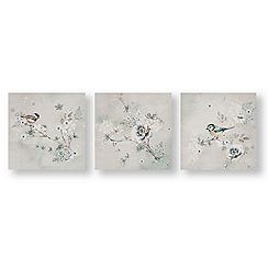 Art for the Home - Beautiful birds trio printed canvas
