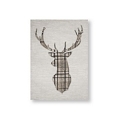 Art for the Home - Tartan stag printed canvas