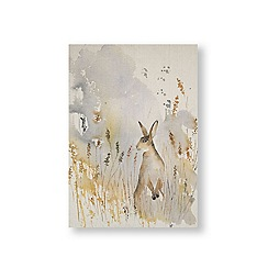 Art for the Home - Meadow hare fabric canvas