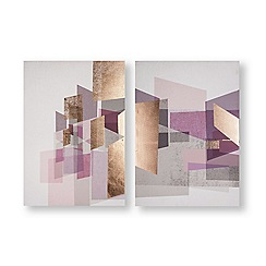 Art for the Home - Rose gold geos printed canvas
