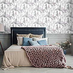 Superfresco Easy - Lilac mystical forest floral wallpaper