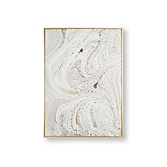 Art for the Home - Grey marble luxe framed printed canvas