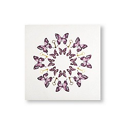 Art for the Home - Blissful butterflies printed canvas