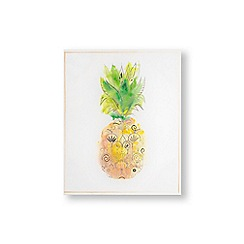 Art for the Home - Pineapple tropics printed canvas