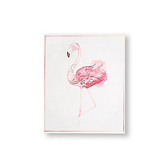Art for the Home - Fabulous flamingo printed canvas