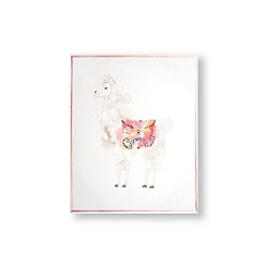 Art for the Home - Lucky llama printed canvas