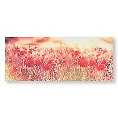 Art for the Home - Peaceful poppy fields printed canvas