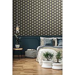 Sublime - Gold fire circle geometric wallpaper
