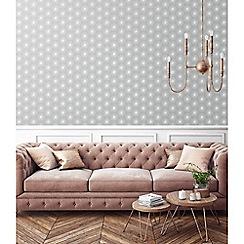 Sublime - Silver fire circle geometric wallpaper