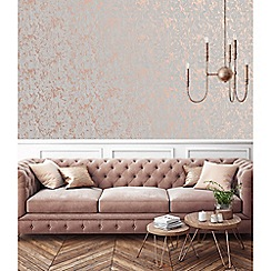 superfresco rose gold milan illusion plain wallpaper