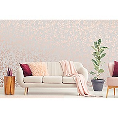 Superfresco - Rose gold Milan trail floral wallpaper