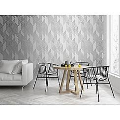 Superfresco - Silver Milan geometric wallpaper
