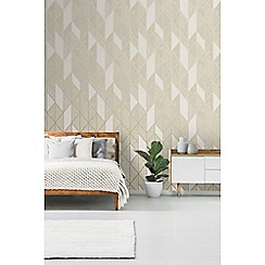 Superfresco - Taupe Milan geometric wallpaper