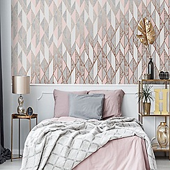 Superfresco - Pink Milan Geometric Wallpaper