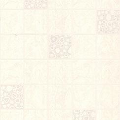 Contour - White Pebble Tile Wallpaper