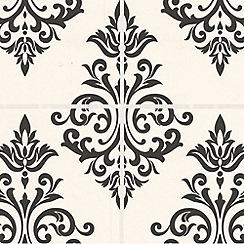 Contour - Black/White Pallade Wallpaper