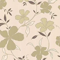 Superfresco Easy - Green & Cream Rapture Wallpaper