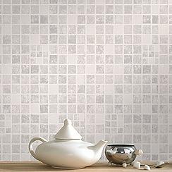 Contour - Grey Mid Earthen Wallpaper