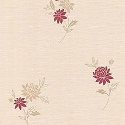 Superfresco - Red Rosalyn Wallpaper