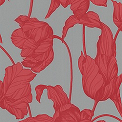 Boutique - Coral Imperal Tulips LLB Harem Wallpaper