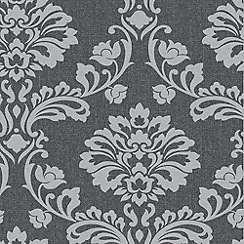 Superfresco - Black & Grey Aurora Wallpaper