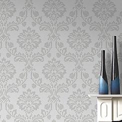 Superfresco - White & Silver Aurora Wallpaper