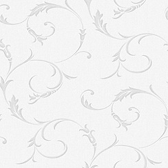 Superfresco - Grey Athena Wallpaper