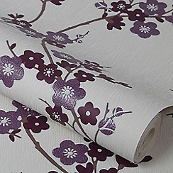 Superfresco Purple Cherry Blossom Wallpaper