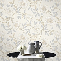 Superfresco - White Camille Wallpaper