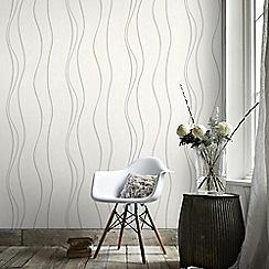 Superfresco - White & Silver Elan Wallpaper