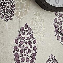 Superfresco - Plum Lucy Wallpaper