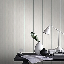 Superfresco - Duckegg & White Stria Stripe Wallpaper