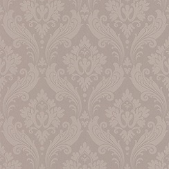 Kelly Hoppen - Perfect taupe Faux Vintage Flock wallpaper