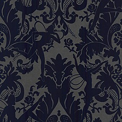 Marcel Wanders - Electric blue Forest Muses flock wallpaper
