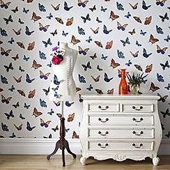 Julien Macdonald - Pearl Flutterby Wallpaper