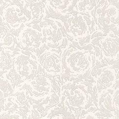 Superfresco Paintables - White Swirl Wallpaper