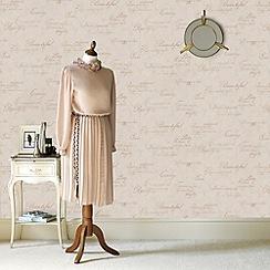 Boutique - Gold concrete script wallpaper