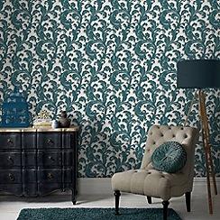 Boutique - Teal capulet wallpaper