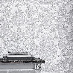 Boutique - Silver montague wallpaper