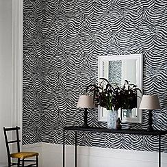 Premier - Black/White Zebra Wallpaper