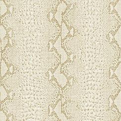 Boutique - White Gold Snake Wallpaper