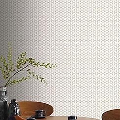 Superfresco Easy - Taupe Helice Geometric Wallpaper