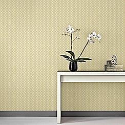 Superfresco Easy - Yellow Helice Wallpaper