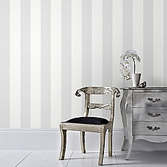 Graham & Brown - Grey Calico Stripe Wallpaper
