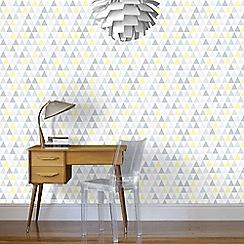 Superfresco Easy - Multicoloured Triangle Geometric Paste the Wall Wallpaper