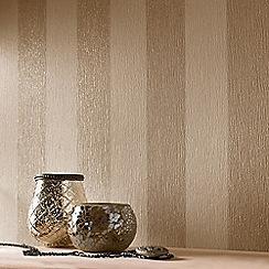 Julien Macdonald - Cream & Gold Glitterati Striped Wallpaper