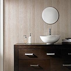 Superfresco Easy - Beige Nautical Woodgrain Effect Wallpaper