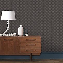 Boutique - Brown & Grey Geometric Circles Wallpaper
