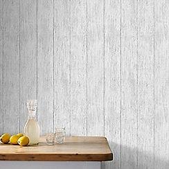 Superfresco Easy - Natural Sahara Wood Panel Effect Wallpaper