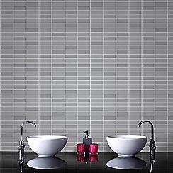 Superfresco Easy - Grey Shimmer Rimini Tile Effect Wallpaper